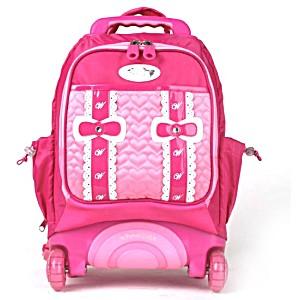 Школьный рюкзак на колесах – ранец Wheelpak Candy Pink – арт. WLP2144 (для 0-3 класса, 15 литров)