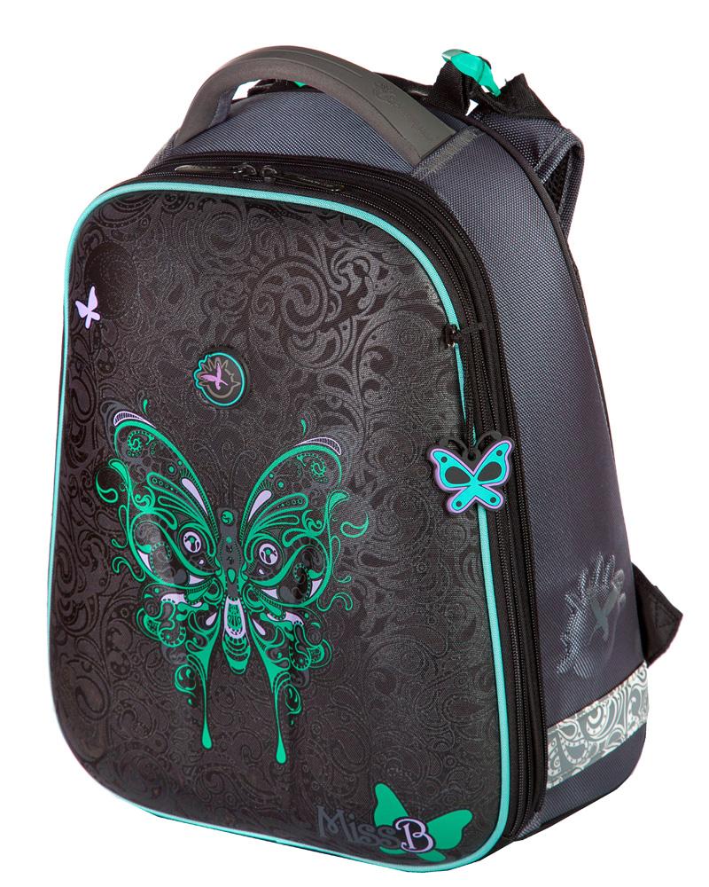 Школьный ранец Hummingbird T20 Бирюзовая бабочка, - фото 1