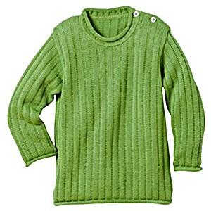 Одежда Disana свитер 100% шерсть цвет зеленый